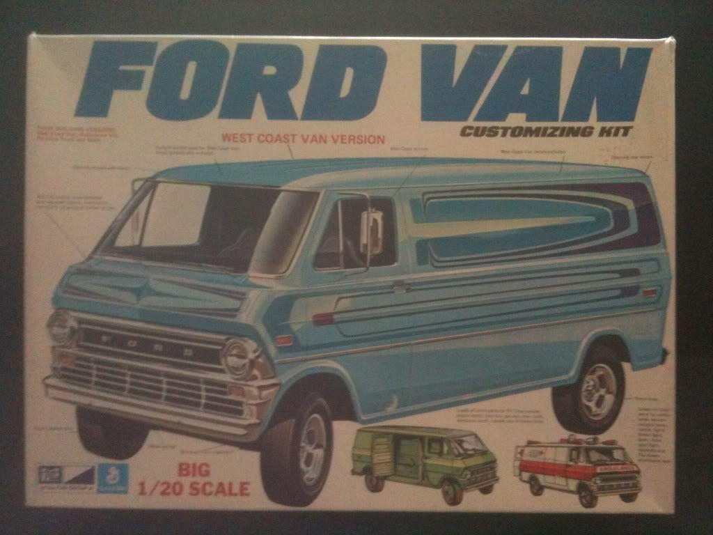 Mpc Ford Van Customizing Kit Box Art Model Cars Kits Plastic