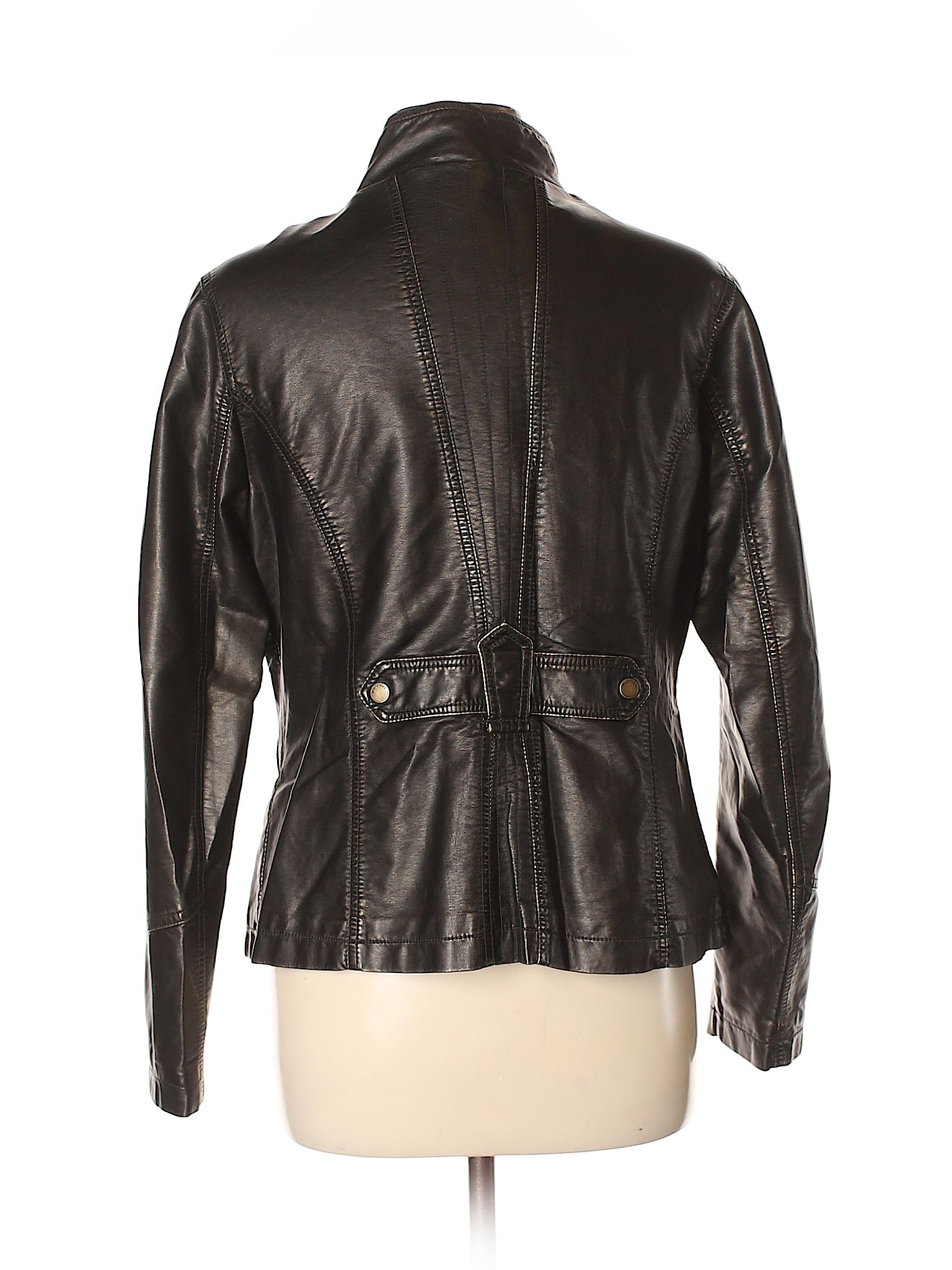 leather fauz outerware Big vintage chill