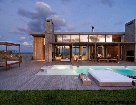 Casas modernas por dentro y por fuera con alberca buscar - Casas arquitectura moderna ...