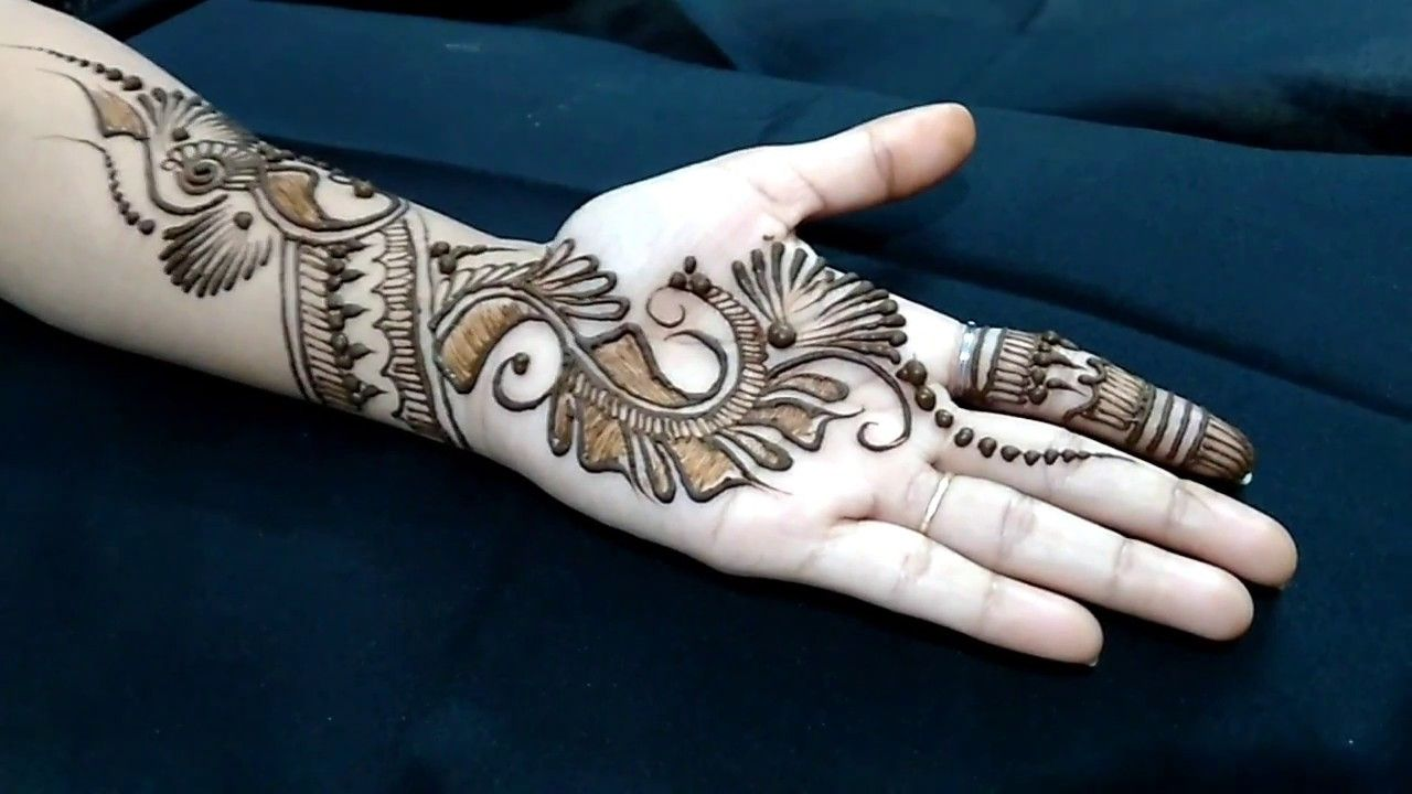 Simple mehndi designs for front hands kids step also rh co pinterest