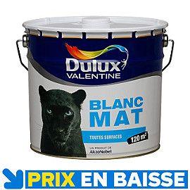 Peinture Dulux Valentine Murs Et Plafonds 10 L Blanc Mat