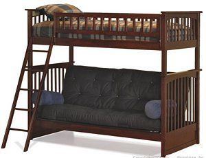 Post Furniture With Futon Comes In White 899 Futon Bunk Bed