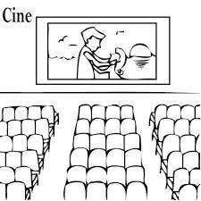 Resultado De Imagen De Cines Para Colorear El Entorno Cine