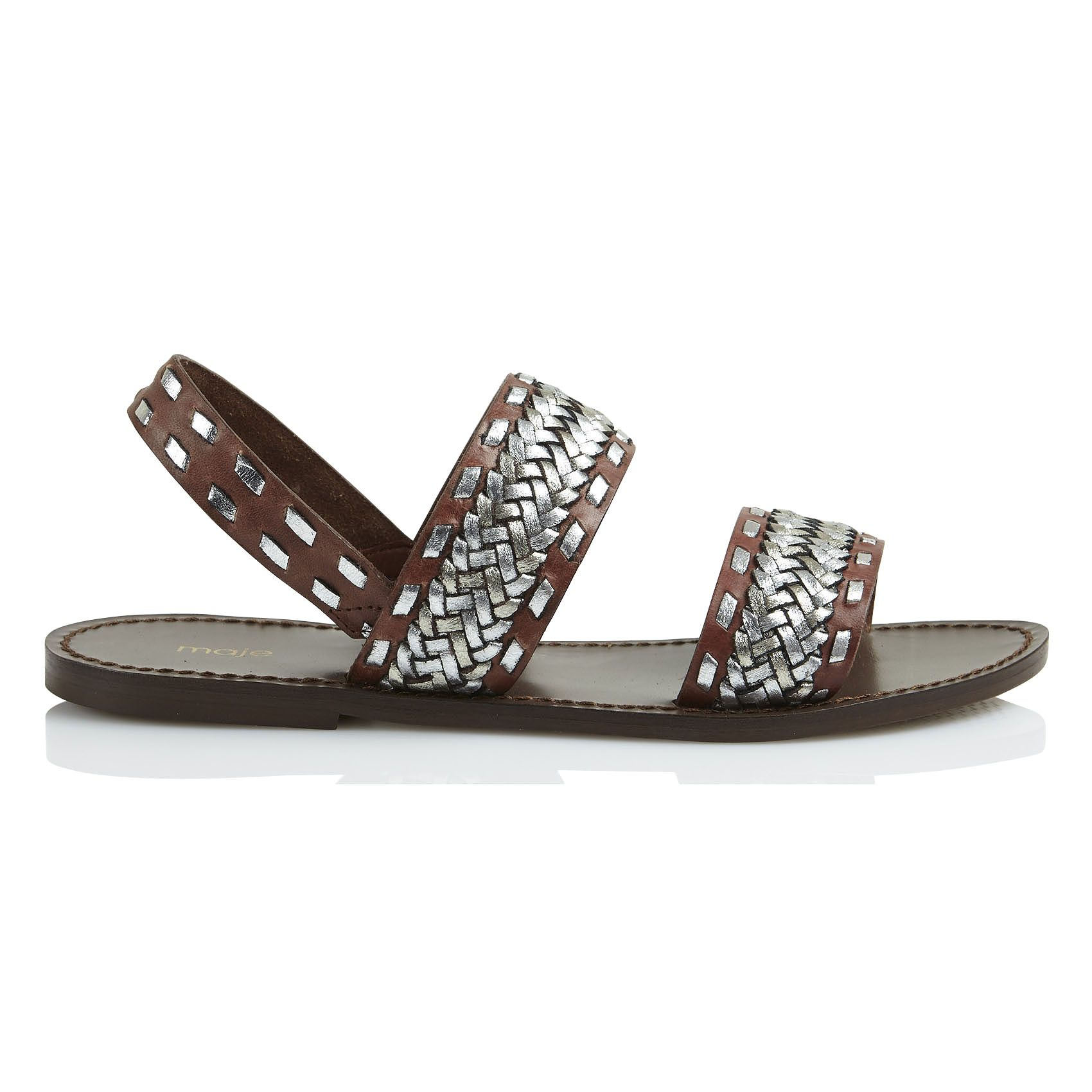 sandales fatale à lanières tressées marronmaje | dans ma