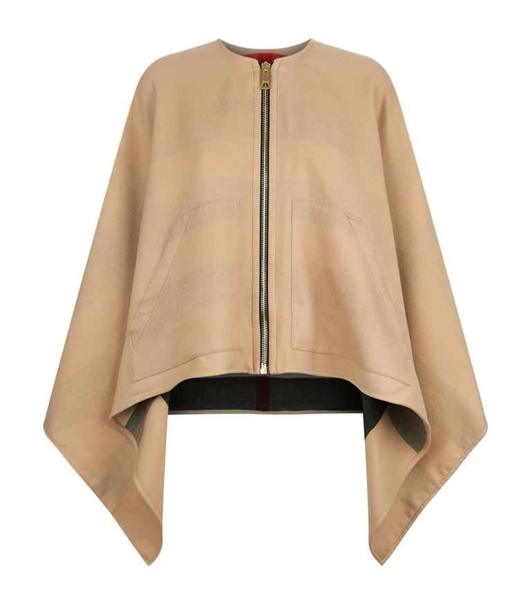 BURBERRY Merino Wool Zip-Up Poncho.  burberry  cloth     Burberry in ... a16d9f32079