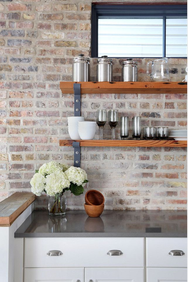 Kitchen Open Shelves Kitchen Design Open Shelves Kitchen Ideas Kitchen Openshelves Openshelve Interior Design Kitchen Exposed Brick Kitchen Brick Kitchen