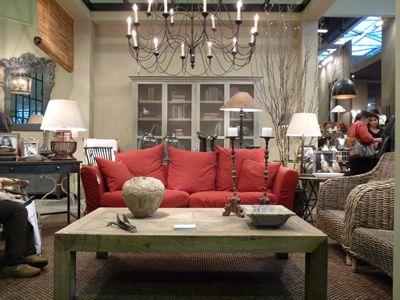 idée deco salon canape rouge | Salons