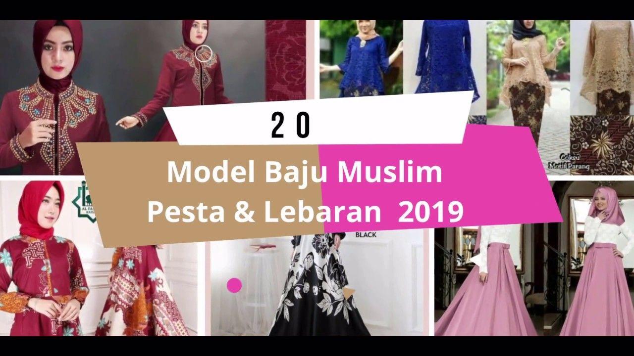 8 Model Baju Muslim Pesta dan lebaran Terbaru 819  Baju muslim