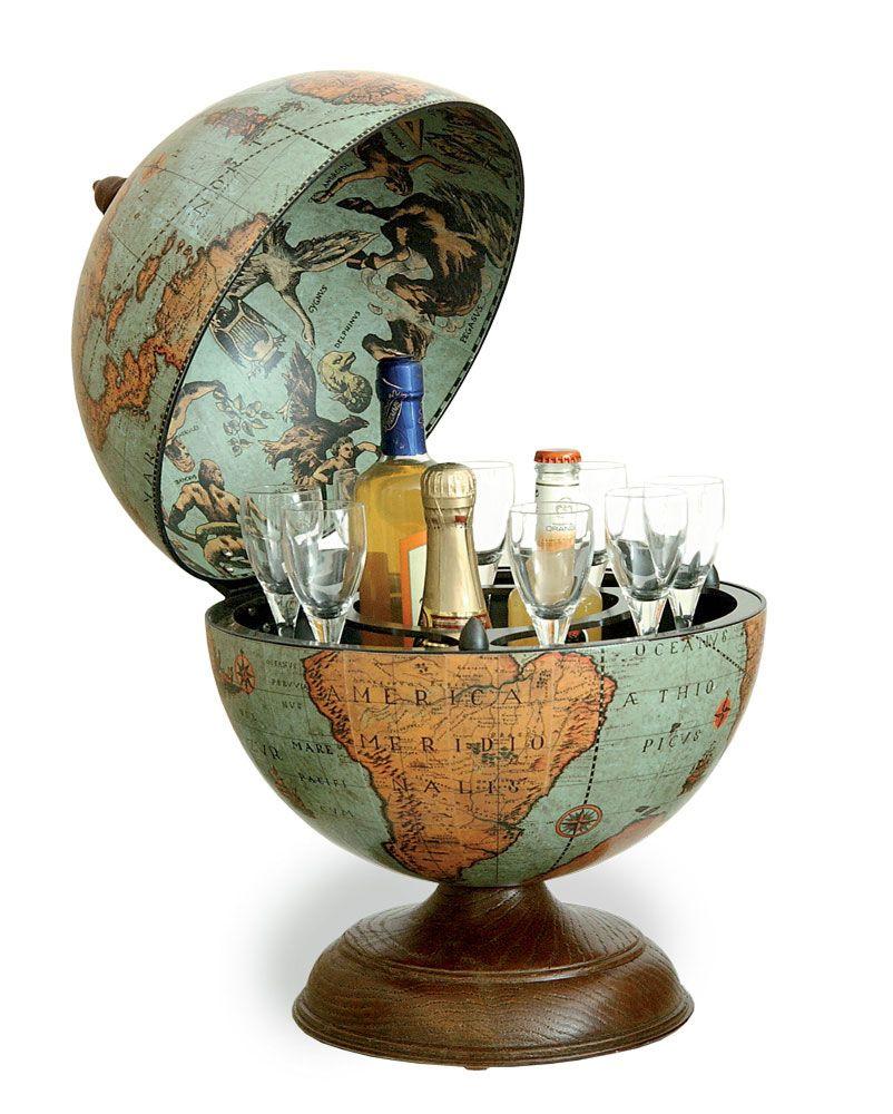 Renaissance World Desk Globe Bar Italian Diameter Laguna