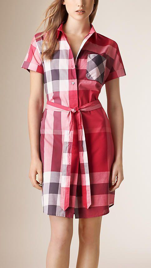 Vêtements pour femme   Burberry   rose   Pinterest   Robe Chemise ... b1bde382c78