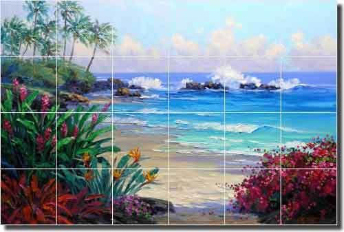 Senkarik-Tropical-Beach-Seascape-Ceramic-Tile-Mural-Backsplash-25-5-x17-MSA078