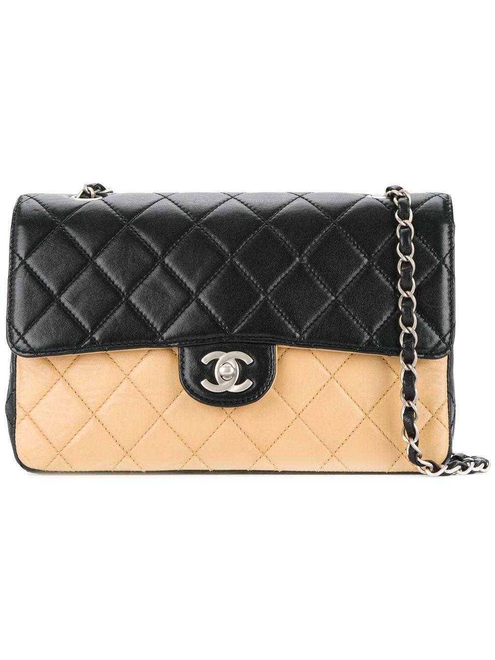 b2d6177bc Chanel Vintage bolso de hombro CC acolchado bicolor | Bags ...