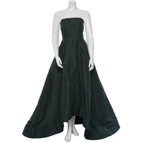Pre-owned Prabal Gurung Strapless Silk Gown (€1.350) ❤ liked on ...
