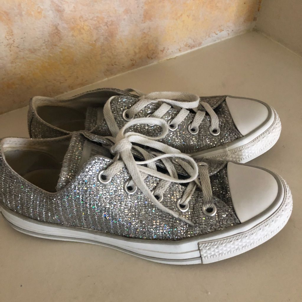 Converse Shoes | Converse Low Top Sneakers Glitter Allstar
