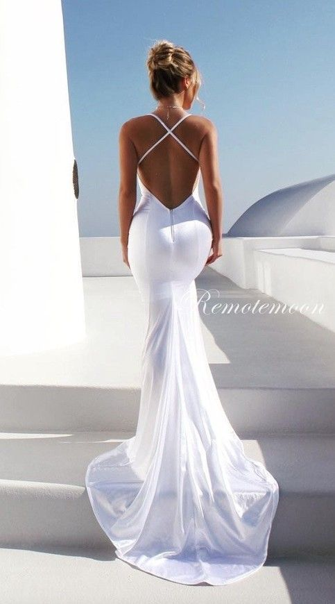 Photo of Wedding Dresses Mermaid 2018 >> Sexy V-Neck Spaghetti Straps Backless Wedding Dress Mermaid S…