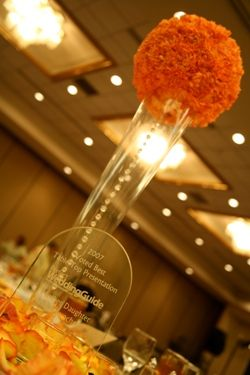 Pomander On Lit Vase Centerpieces Wedding Recap