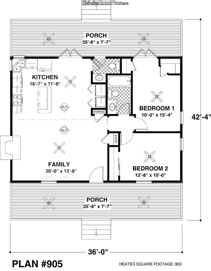 House Plan 025141 Mountain Retreat Distinctive House Plans Small House Floor Plans Tiny House Plans Cottage Style House Plans