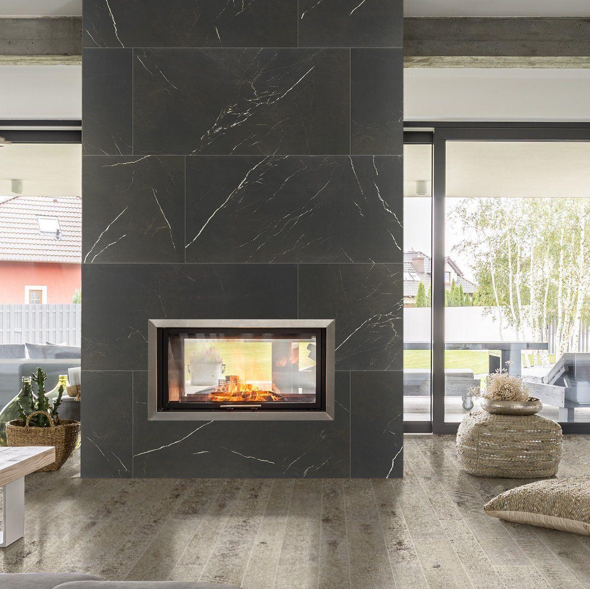 Image Result For Large Format Tile Fireplace Fireplace Remodel Home Fireplace Fireplace Design