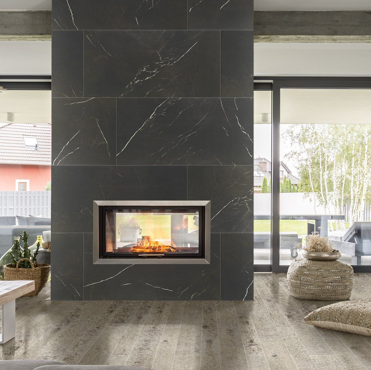 Image Result For Large Format Tile Fireplace Fireplace Remodel