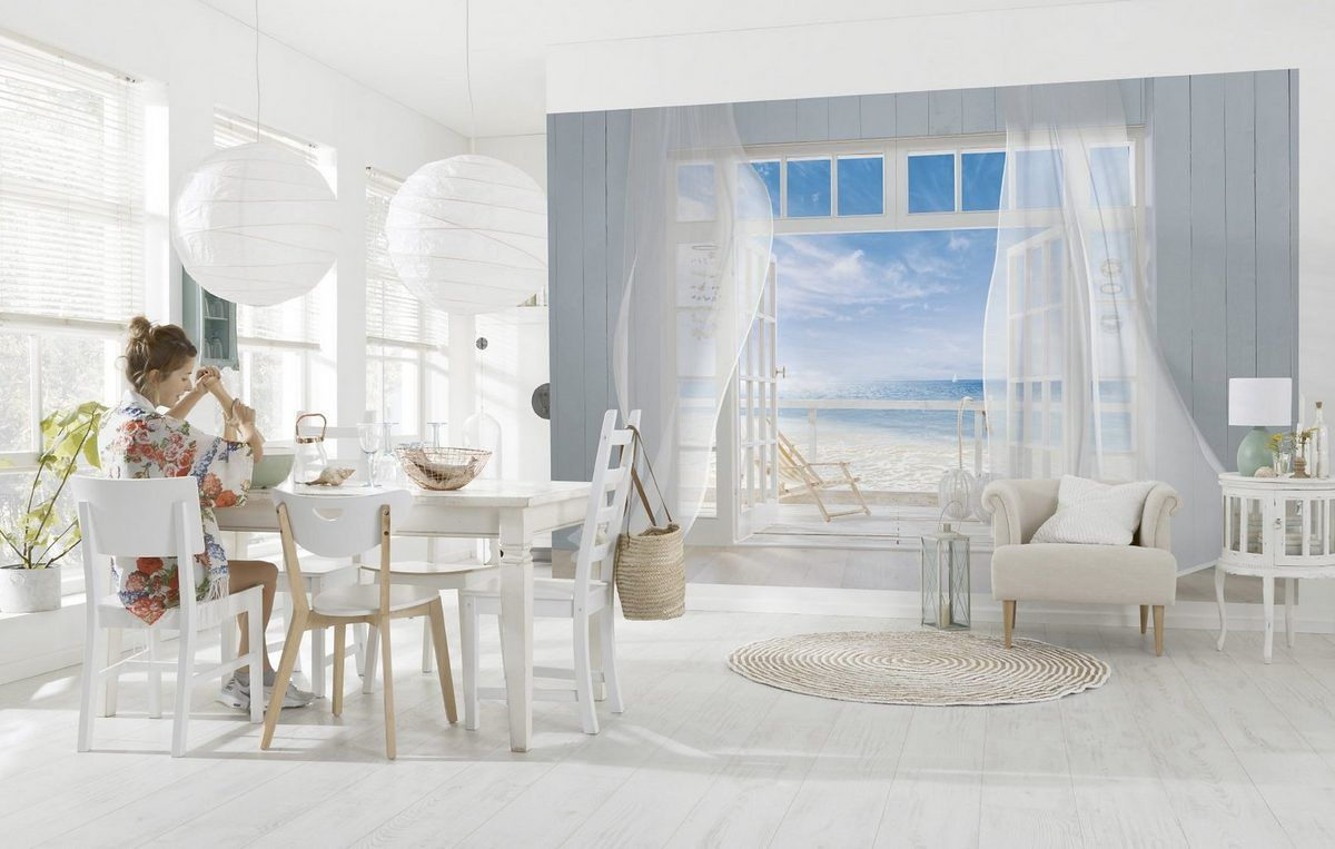 Fototapete, Komar, »Malibu«, 368/254 cm für 89,99€. Wunderschöne Fototapete, Setzt moderne, stilvolle Akzente, Kinderleichte Anbringung an die Wand bei OTTO