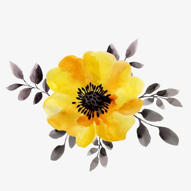 Flowers Watercolor Vector Png Transparent Clipart Image And Psd File For Free Download Yellow Flowers Painting Watercolor Flowers Paintings Yellow Art
