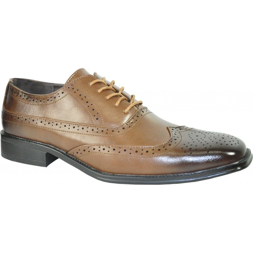 9a10bdb10fb Men s Brown Classic Oxford Square Toe Wingtip Dress Shoe
