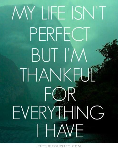 Captivating My Life Isnu0027t Perfect But Iu0027m Thankful For What I Have. Picture Quotes.