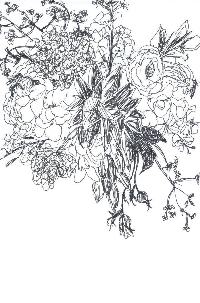 messy flowers drawings studio arts nature art Yard Art messy flowers drawings