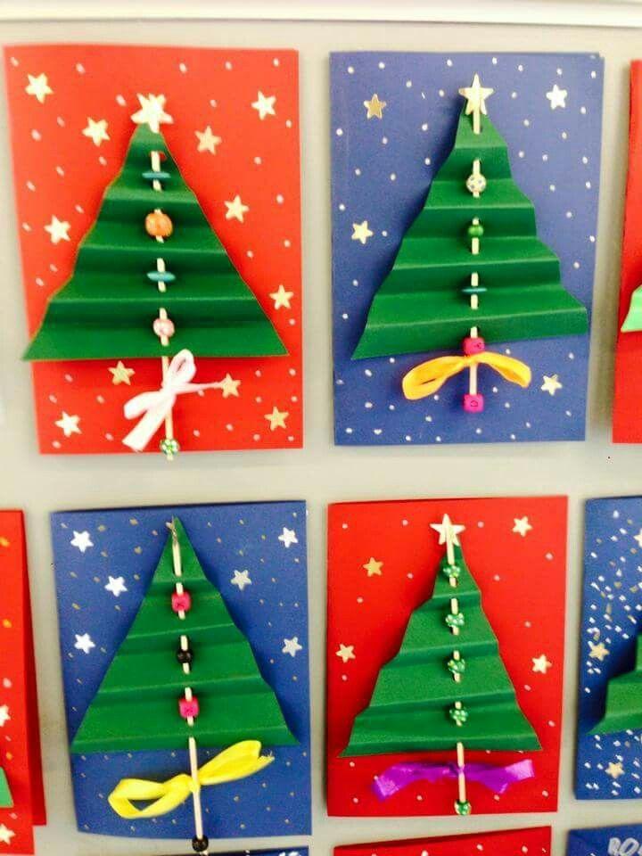 Resultado de imagen para manualidades para el dia de la - Tarjeta de navidad para ninos manualidades ...