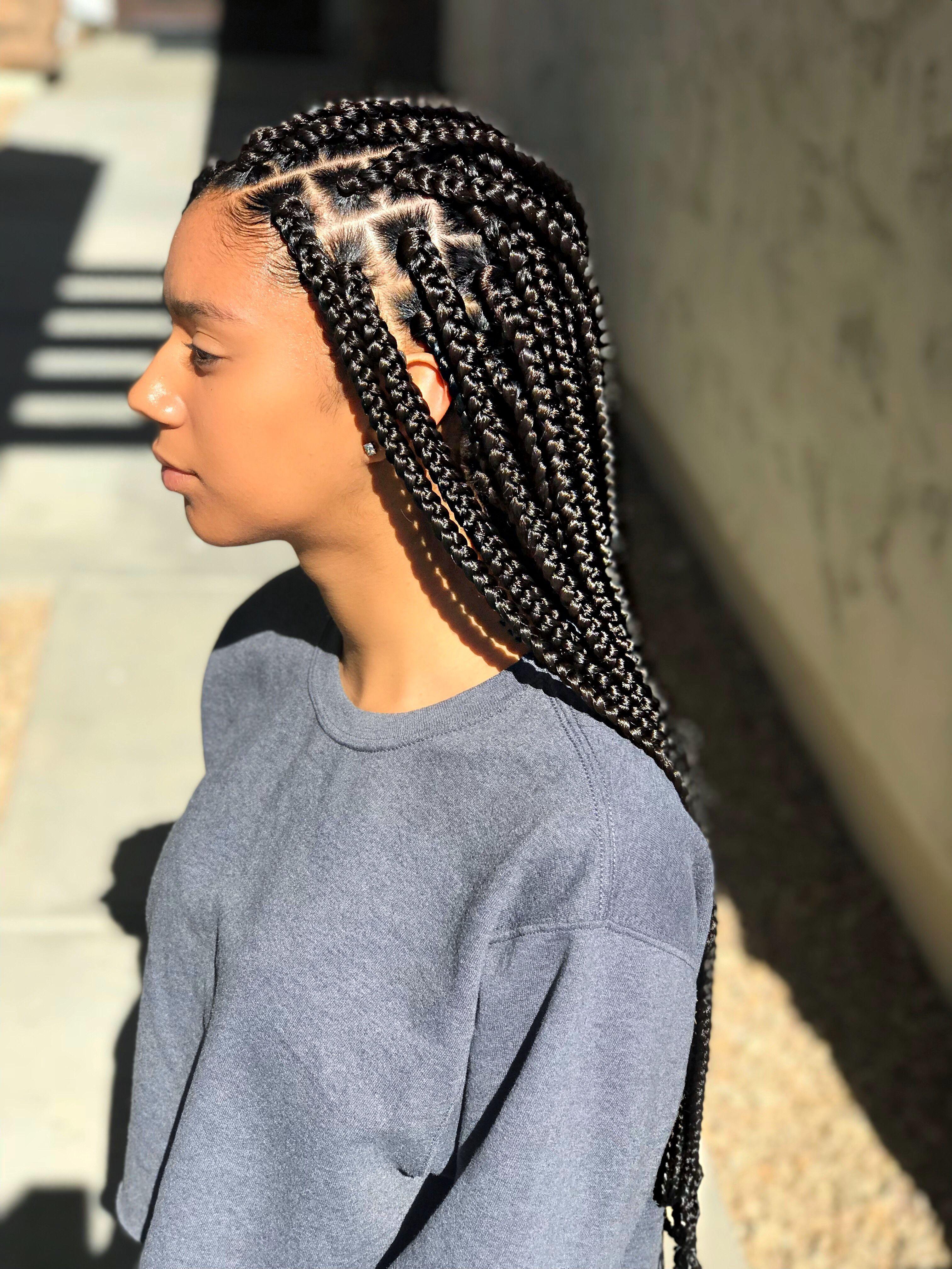 Medium/Small sized Box Braids - Black/Brown Box Braids ...