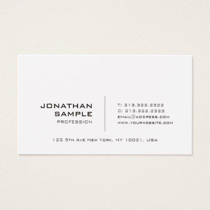 Create your own minimalist modern chic plain business card simple create your own minimalist modern chic plain business card simple unique et chic reheart Gallery