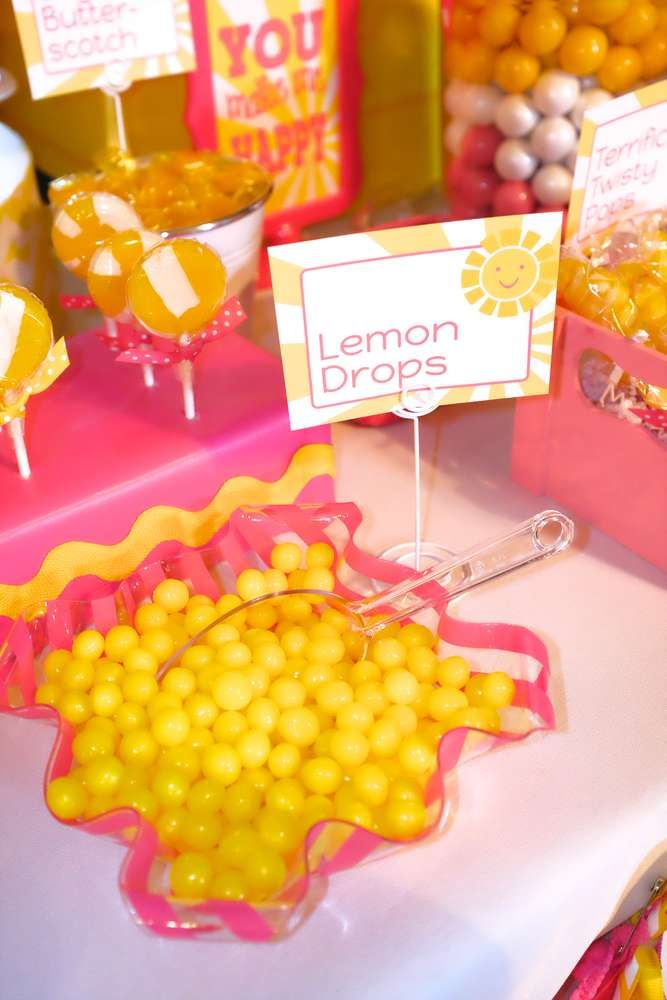 You are my sunshine birthday party lemon drop candy! See