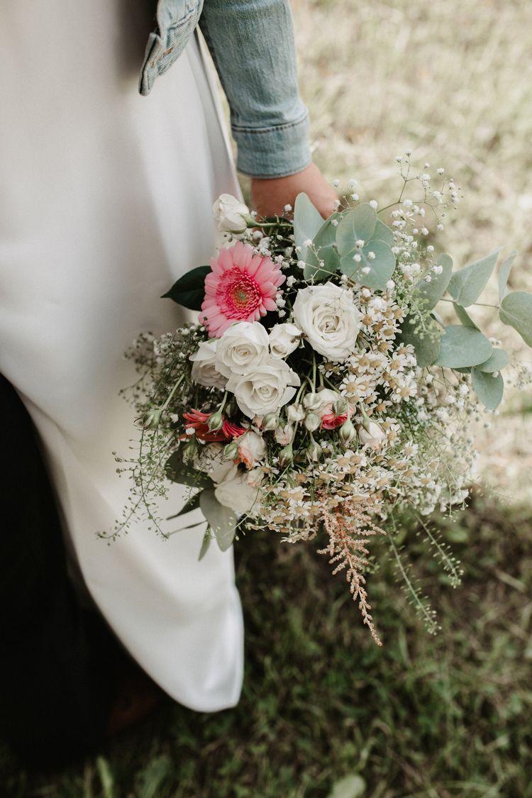 Brautstrauß / Sommerstrauß selber machen mit Eukalyptus und Schleierkraut / Sommerhochzeit