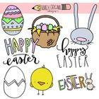 Free Easter Clip Art by Namely Original Designs | Teachers Pay Teachers