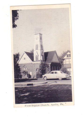 1965 Apollo, Pa~RPPC~First Baptist Church~Postcard~B387
