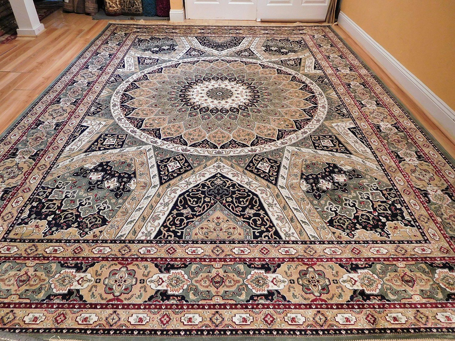 Silk Area Rugs 8x11 Traditional Carpet