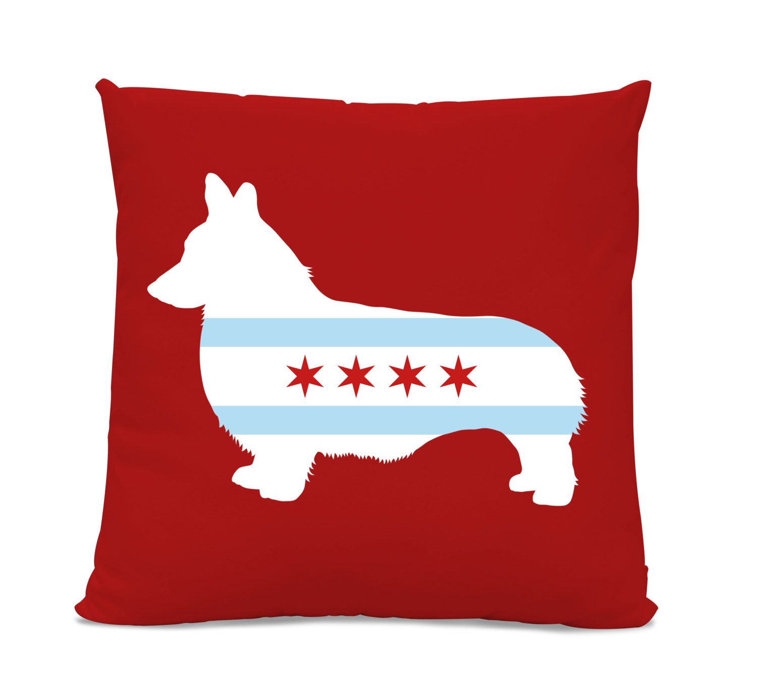 Superbe Chicago Flag Corgi Pillow   Chicago Home Decor   Corgi Pillow   Dog Breed  Silhouette Pillow