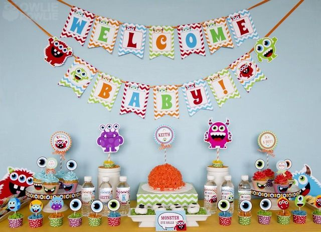 monster baby showers on pinterest