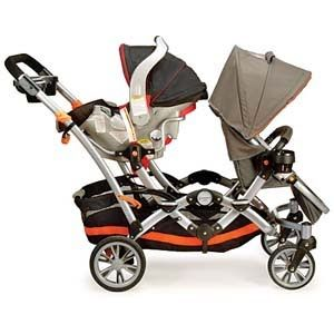 Double strollers with toddler and infant seats | It comes with an ...