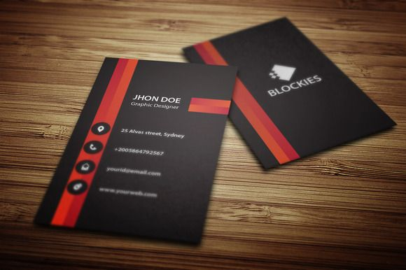 Vertical Business Card Template V.2 | Pinterest | Vertical business ...