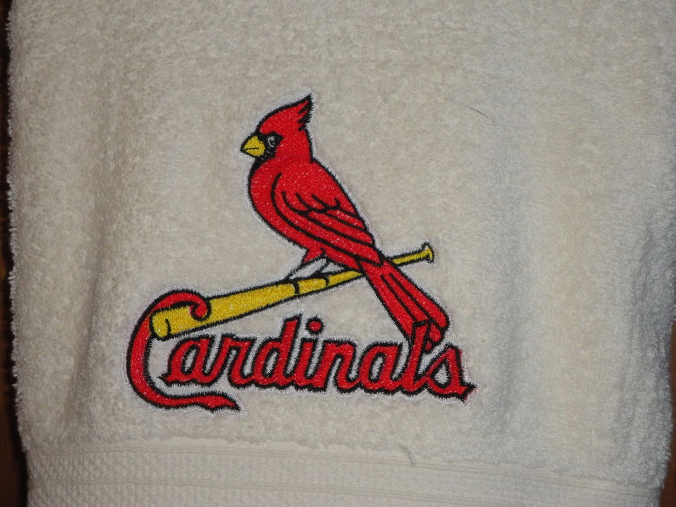 St Louis Cardinals Logo Embroidery Design Embroidered Towels