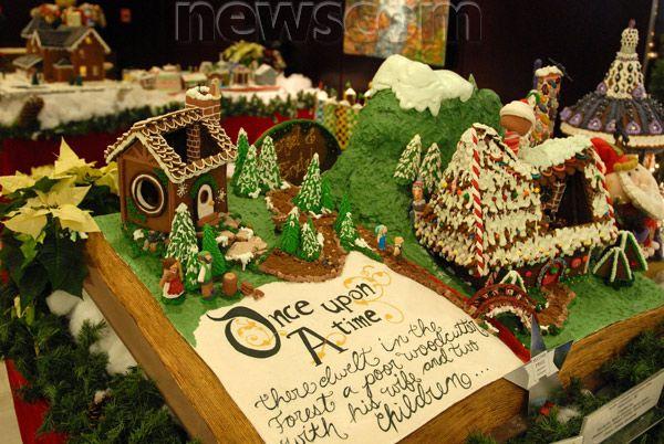 Gingerbread Houses Are Displayed At Hyatt Regency Hotel In Vancouver Canada Nov 30 2012 Gingerbread House
