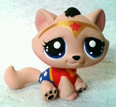 Wonder Cat Ooak Custom Littlest Pet Shop Ebay Lps Littlest Pet Shop Little Pets Lps Pets