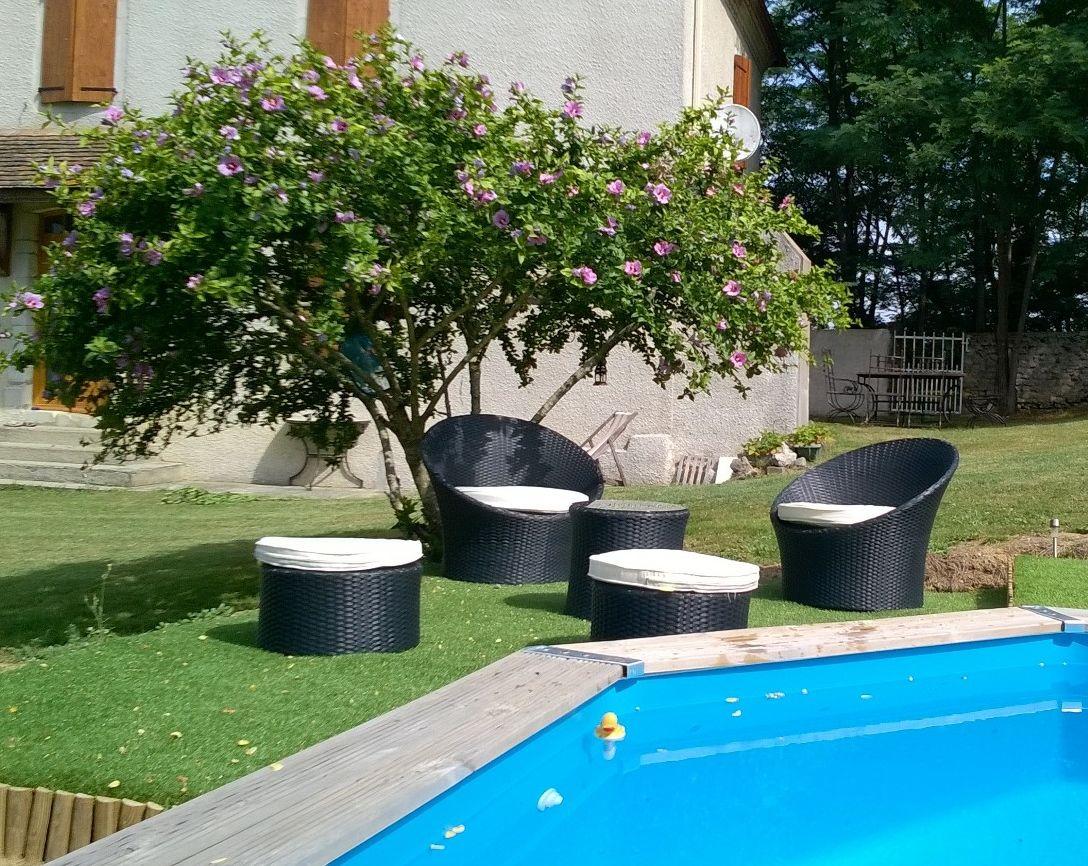 Capasanta : salon de jardin 4 places empilable et encastrable en ...