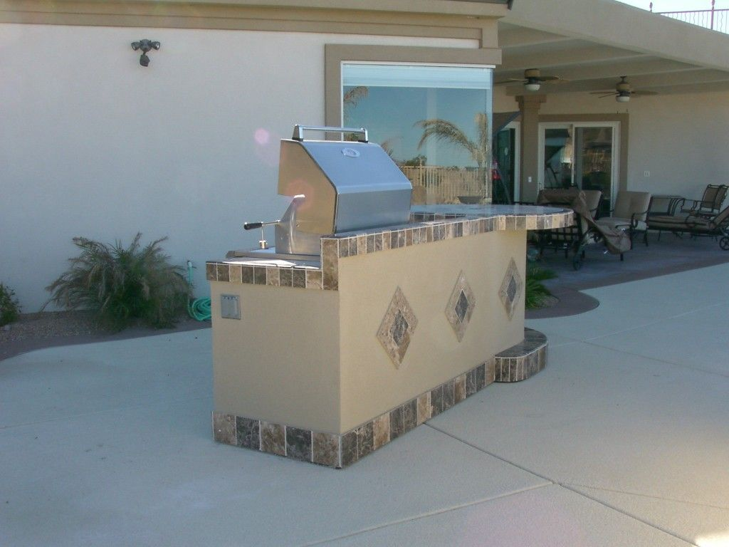 outdoor fireplaces las vegas Custom Outdoor Kitchen Design by