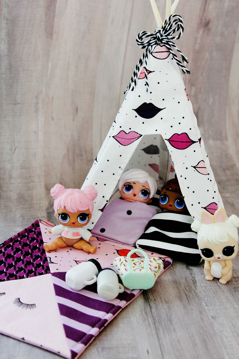 DIY Doll Tent for LOL surprise dolls #dollaccessories
