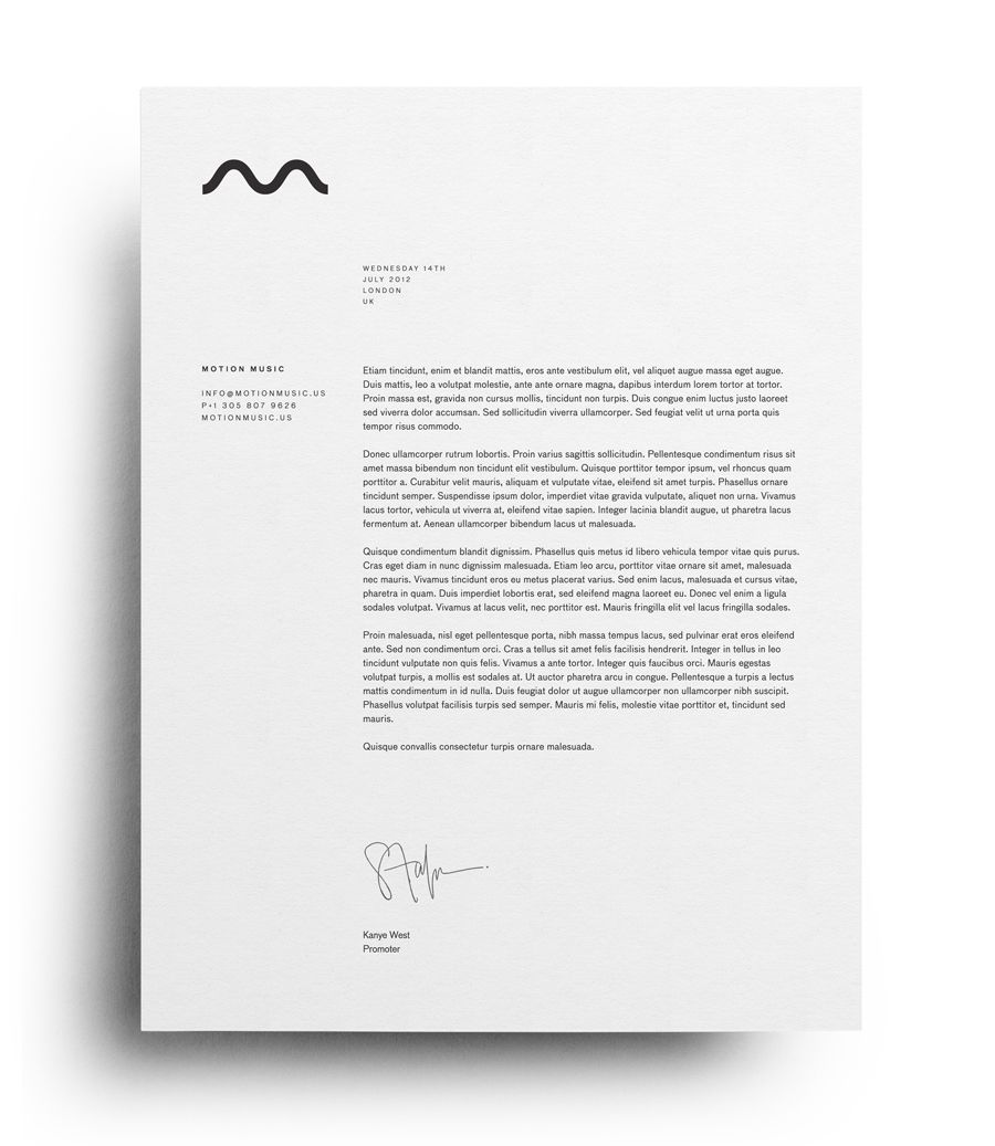 New Brand Identity For Motion Music By Face Bp O Carta