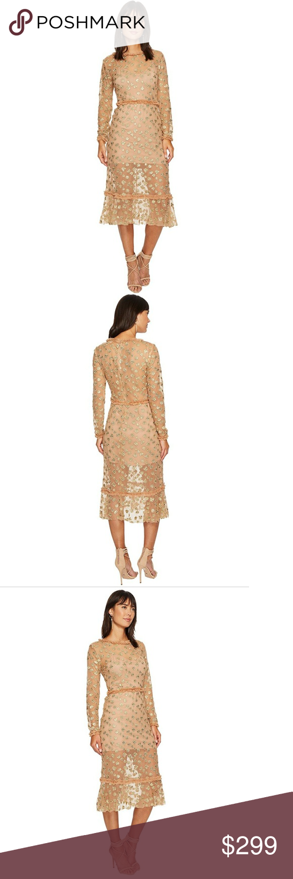 085fbdedab For Love and Lemons○Golden Garden Tulle Midi Dress For Love and Lemons○Golden  Garden Tulle Midi Dress. This amazing dress offers so much with its  gorgeous ...
