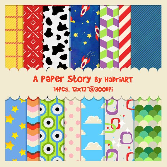 Toy Story Digital Paper Printable Patterns