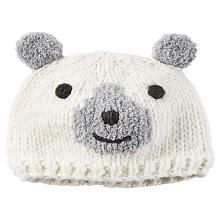 Bear Face  pom pom hat. Ear details. <br><br>Carter's is the leading brand of children's clothing, gifts and accessories in the United States today, selling more than 10 products for every child born in U.S. Trusted by generations of families for making life easier, Carter's creates a full range of innovative, quality baby and children's products that have provided solutions for real life since 1865. Be sure to visit our <a http://www.toysrus.com/...